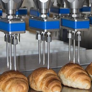 Detalle inyectado de croissants