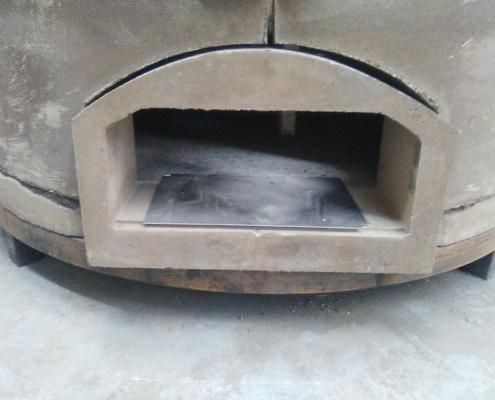 horno de lena, construcción