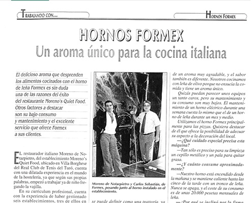 Formex Ovens, a unique aroma for Italian cuisine