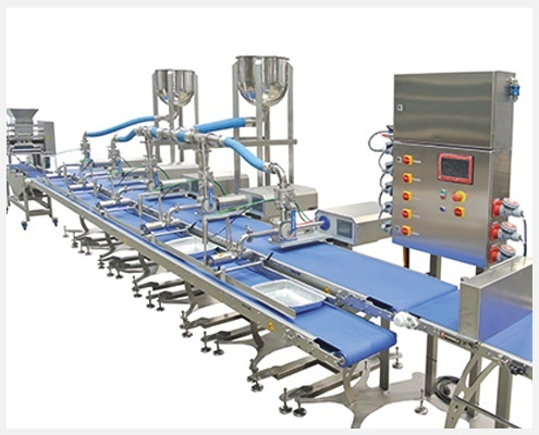 Linea de producción para elaborar lasagna